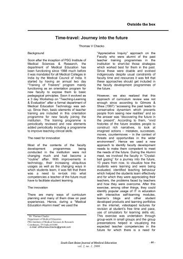 Time-travel: Journey into the future - South East Asian Journal of ...