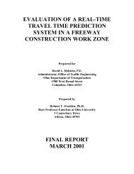 EVALUATION OF A REAL-TIME TRAVEL TIME PREDICTION ...