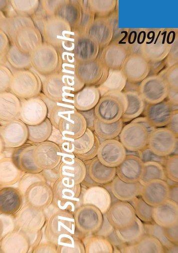 DZI Spenden-Almanach 2009-10 - Deutsches Zentralinstitut für ...