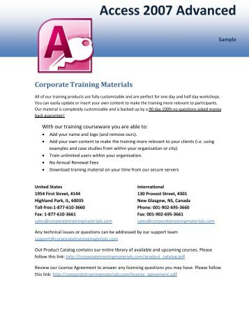 Has mastered the course Access 2007 Advanced - Corporate ...