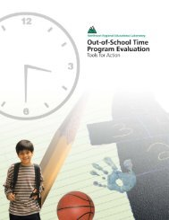 Out-of-School Time Program Evaluation: Tools for Action - Education ...