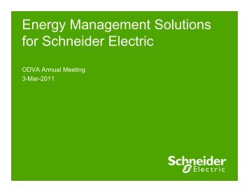 Energy Management Solutions for Schneider Electric - ODVA