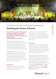 Realising the Power of Events Case Study - Heroes Project India