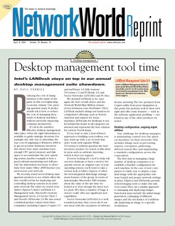 Desktop management tool time - LANDesk