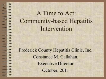 A Time to Act: Community-based Hepatitis Intervention - nastad