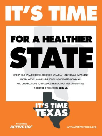 Fun things to do with your IT'S TIME TEXAS Poster
