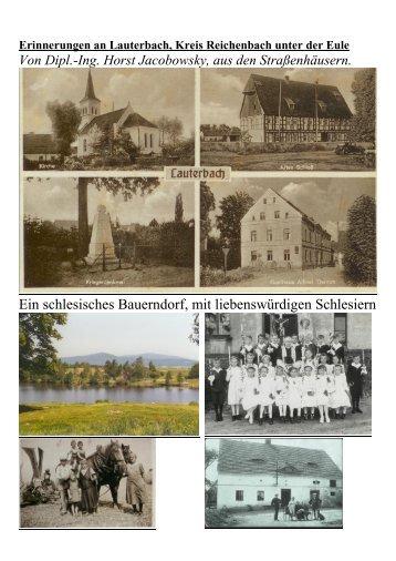 Erinnerungen an Lauterbach, Kreis Reichenbach in Schlesien