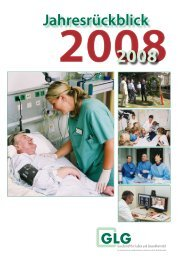 Jahresrückblick 2008 - GLG Gesellschaft für Leben und Gesundheit ...