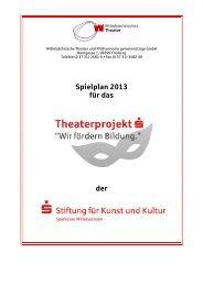 Spielplan 2013 - Die Stiftungen der Sparkasse Mittelsachsen