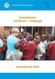 Freundeskreis Leverkusen – Lukajange Jahresbericht 2008