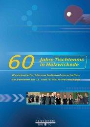 Jubiläumsheft TTC 60 Jahre - TTC 1950 Holzwickede