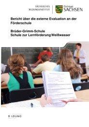 Bericht Evaluation - Brüder - Grimm - Schule Weißwasser, Schule ...