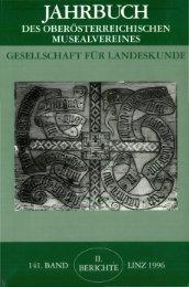 jahrbuch des oberösterreichischen musealvereines gesellschaft für ...