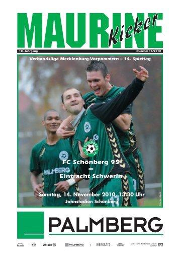 Eintracht Schwerin - FC Schönberg 95