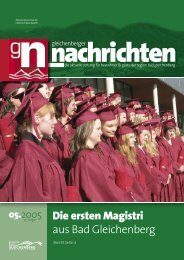 Die ersten Magistri aus Bad Gleichenberg - Gleichenberger ...
