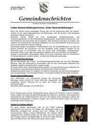 Gemeindenachrichten - Hallwang