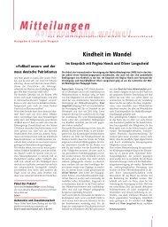 Kindheit im Wandel - Anthroposophische Gesellschaft in Deutschland