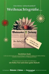 Eine kleine Aufmerksamkeit! Weihnachtsgrüße... - Walsroder Zeitung