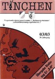 Übergabe Stabszug/FlaRakG 1, Sanierung Halle 10 - TINCHEN eV