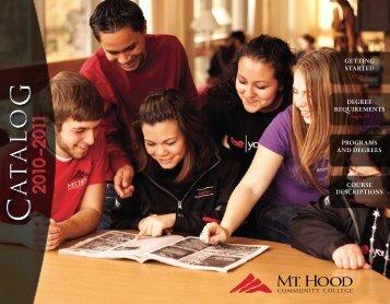 2010-2011 Catalog - Mt. Hood Community College