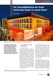 Die Zentralbibliothek der Stadt- büchereien Hamm in neuem ... - B.I.T.