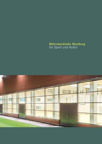 Broschüre Mehrzweckhalle - Maulburg