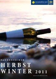 PANNONISCHER HERbSt WINtER 2011 - Neusiedler See