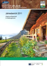 Kalenderjahr - Urlaub am Bauernhof