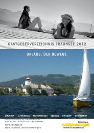 an Bord! - Traunsee - Salzkammergut