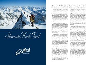 Skiroute Hoch-Tirol
