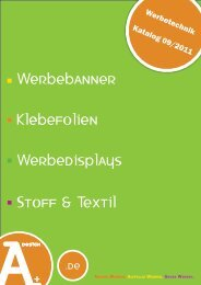 Werbetechnik Katalog 09/2011 - a-plusdesign