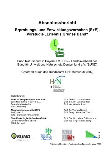 Abschlussbericht - Alpenforschungsinstitut