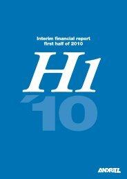 Interim financial report first half of 2010 - ANDRITZ Vertical volute ...