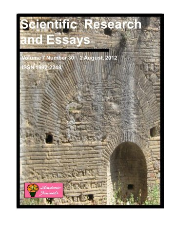 Download Complete Issue (6870kb) - Academic Journals