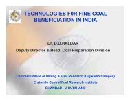 technologies f0r fine coal beneficiation in india - DOE - Fossil Energy