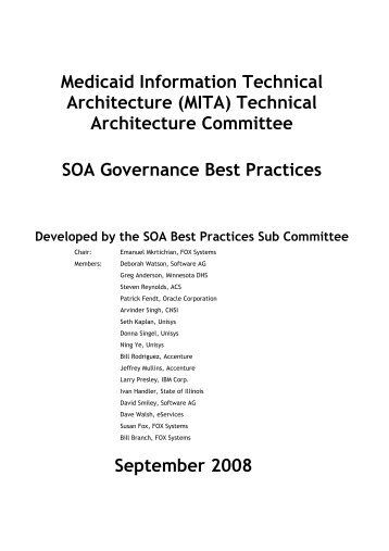 Technical Architecture Committee SOA Governance Best Practices ...