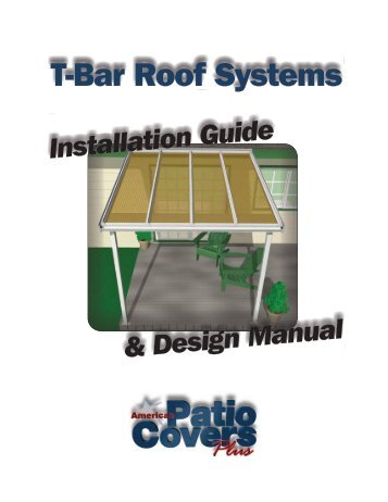 Design Manual Installation Guide   American Patio Covers