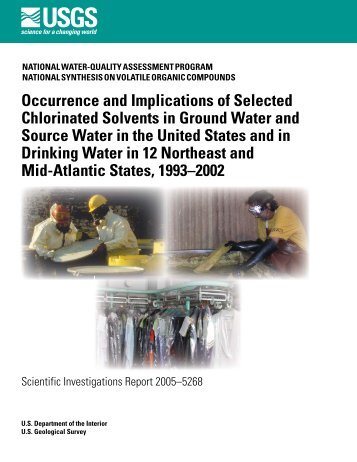 Occurrence and Implications of Selected Chlorinated Solvents in ...