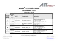 MIFARE® Certification Institute - AIT Austrian Institute of Technology