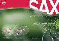 PRODUKTE & DIENSTLEISTUNGEN - SAX Polymers Industrie GmbH