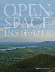 Where We Work - Open Space Institute