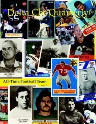 All-Time Football Team - Delta Chi