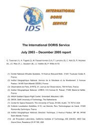 The International DORIS Service July 2003 – December 2005 report