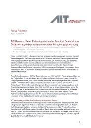 Press Release Ait-Karriere: Peter Palensky wird erster Principal ...