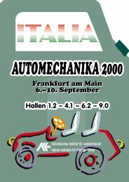 automechanika 2000 - Italienisches Institut für Außenhandel