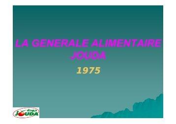 LA GENERALE ALIMENTAIRE JOUDA - CTAA