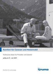 Komfort für Caravan und Reisemobil