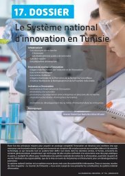 17. DOSSIER Le Système national d'innovation ... - Tunisie industrie