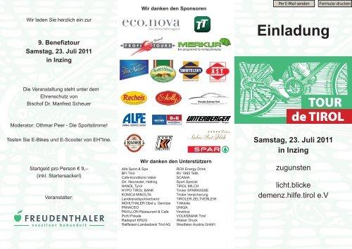 Einladung Samstag, 23. Juli 2011 in Inzing