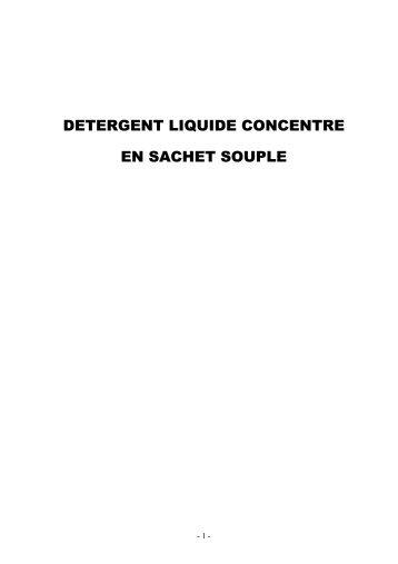 detergent liquide concentre en sachet souple - Tunisie industrie